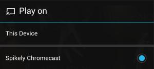 Chromecast pop up
